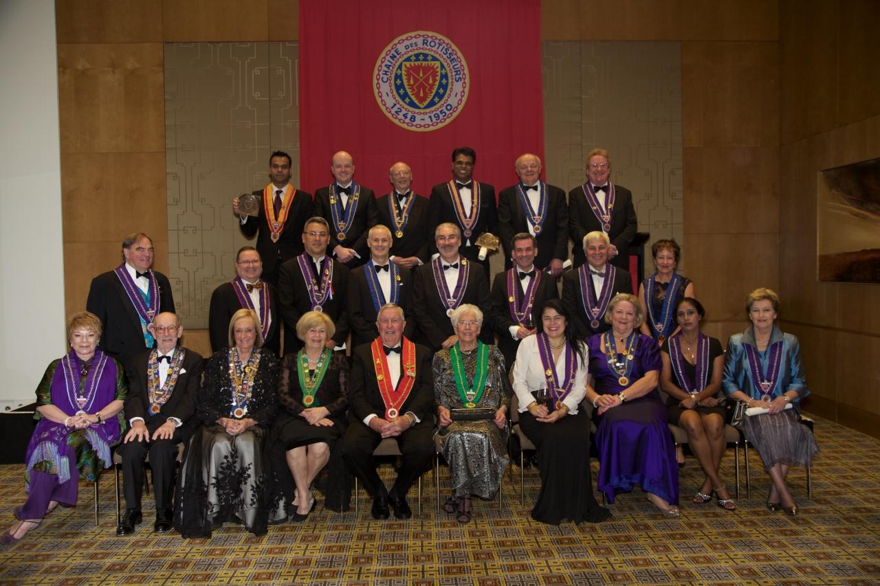 Chaine des Rotisseurs & L'Ordre Mondial joint Intronisation Chapitre deMelbourne