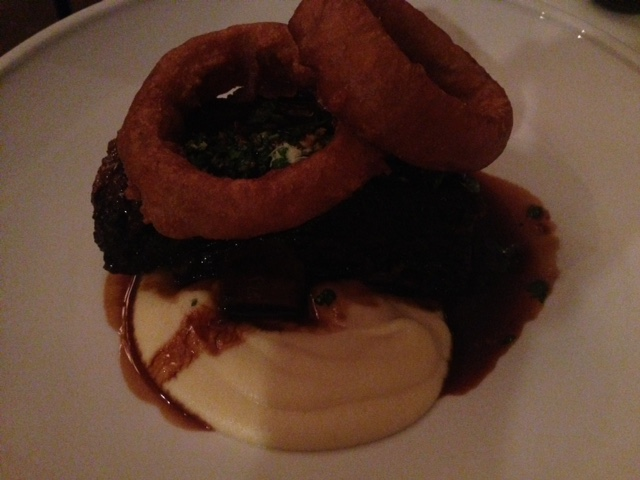 Beef rib with horseradish gremalata