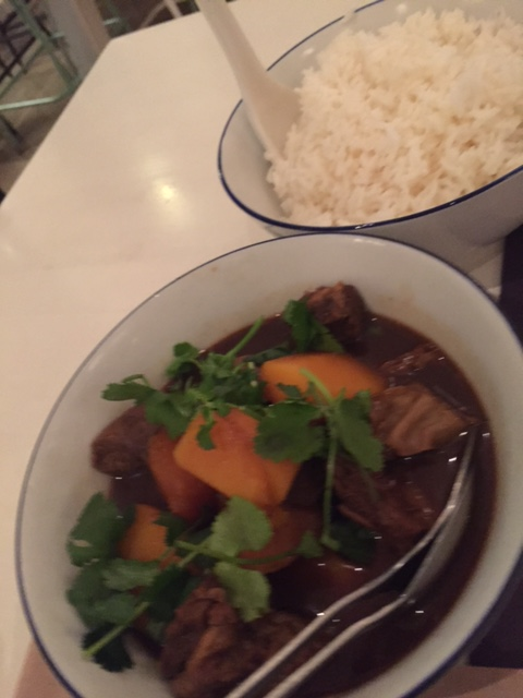 5 Spice beef with pumpkin and Jasmine rice