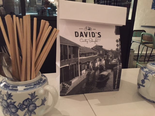 Loving the branding of David's Restaurant for their take home goody bags