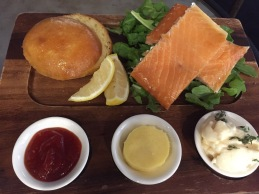 Tasmanian hot smoked salmon at Nant