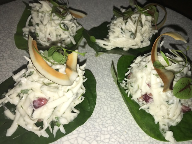 Vietnamese Slaw on Bettel leaves