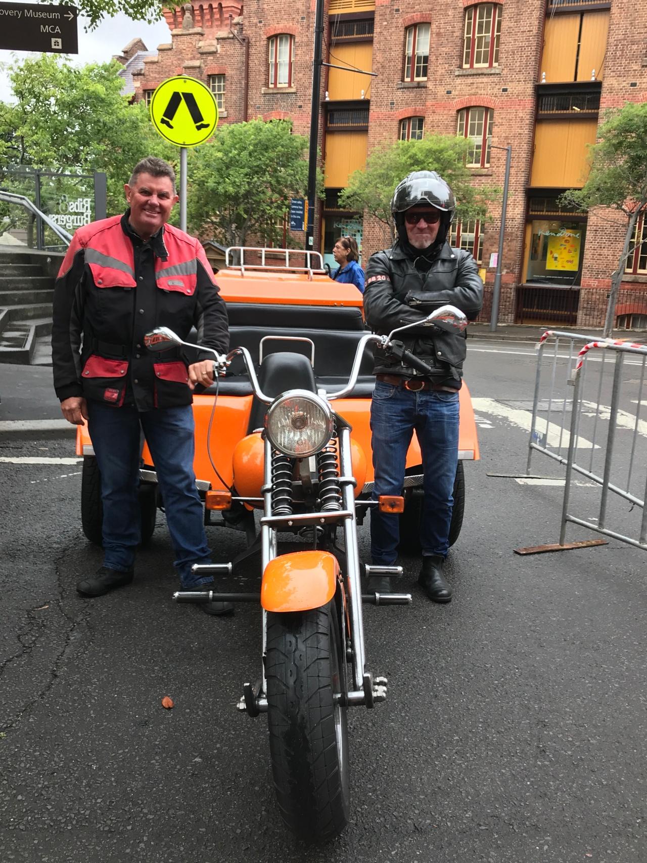 Riding easy on a Harley Trike aroundSydney