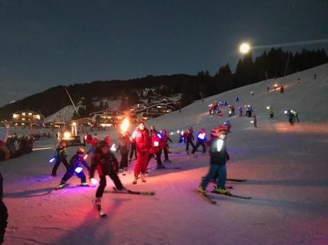 New Years Eve torch ski