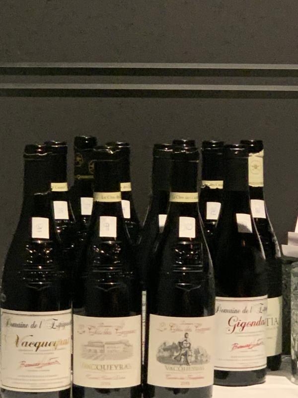 18 bottles of Rhone wines sampled